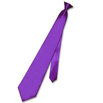 ビアジオ クリップオン ネクタイ固体メンズ ネクタイ