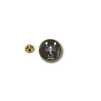 Pine PineS badge PIN-apos; s metal biker biker tegn Zodiac Scorpion