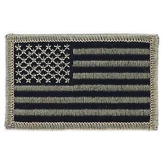 Patch Ecusson Brode Flag USA USA U.S. Camouflage Black Airsoft