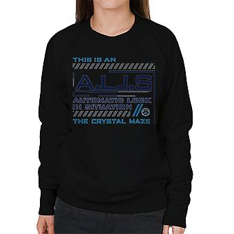 The Crystal Maze ALIS Automatic Lock In Situation Women's Sweatshirt