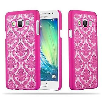 Samsung Galaxy A3 2015 Custodia rigida in PINK di Cadorabo - Flowers Paisley Henna Design Protective Case – Phone Case Bumper Back Case Cover