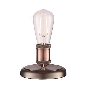 Endon Hal 1 lâmpada de mesa leve envelhecido pewter, placa de cobre envelhecido 76355