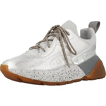 Yellow Sport / Green Tooth Color Silver Sneakers