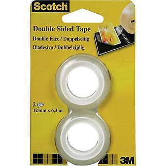 3M 7100126761 Double sided adhesive tape Scotch® 665 Transparent (L x W) 6.3 m x 12 mm 2 Rolls