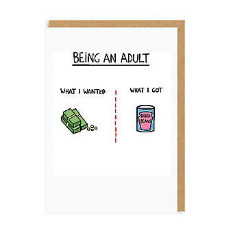 Ohh Deer Being An Adult Greeting Card