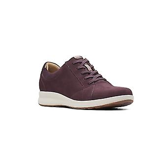 Clarks Womens Un Adorn Lace Up NuBuck Low Top Lace Up Fashion Sneakers