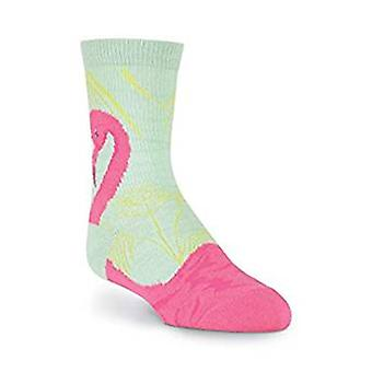 Kids Crew Socks - K Bell - Flamingo Blue (7-8.5)