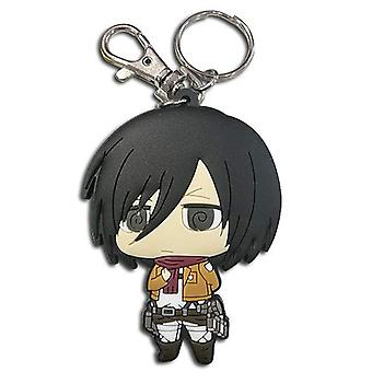 Key Chain - Attack On Titan - Sd Mikasa Dedicate Stance PVC New ge85395