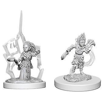 Pathfinder Battles Deep Cuts Unpainted Miniatures Gnome Female Druid (Pack of 6)