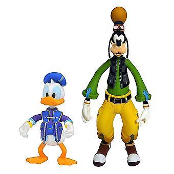 Kingdom Hearts Disney Donald and Goofy Figure Toy