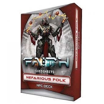 FAITH The Sci-Fi RPG Second Edition Seedsheets Nefarious Folk Gear Deck