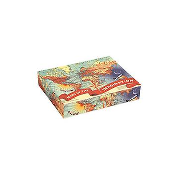 Wendy Gold Maps of the Imagination Keepsake Box by Galison & Illustrated by Wendy Gold