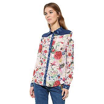 Camisa Feminina Desigual's Floral Bruselas Shirt