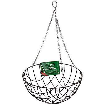 "Kingfisher 12"" Inch (30.5cm) Metal Wire Hanging Basket Planter"