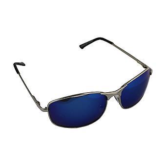 Mäns solglasögon Polaroid Rektangulär - Silver/Blå med gratis brillenkokerS304_2