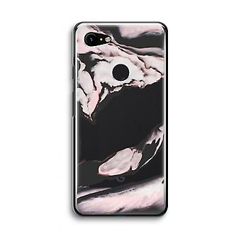 Google Pixel 3 Transparent Case (Soft) - Pink stream