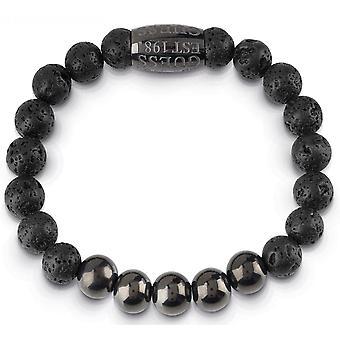 Gissa smycken UMB85017 armband - Lava sten & pärlor metall man