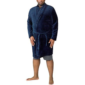 Duke D555 Mens Enno Big Tall Super Soft Loungewear Szalata - Navy