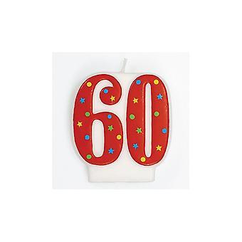 Culpitt Red Multi '60' Candle - Single