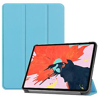For iPad Pro 12.9 Inch (2018) Case Blue Karst Texture PU Leather Folio Cover