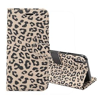 For iPhone XS MAX Cover,Leather Wallet Case Card Slots,Stand,Yellow Leopard