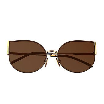 بيرثا لوغان النظارات الشمسية المستقطبة - الذهب / براون