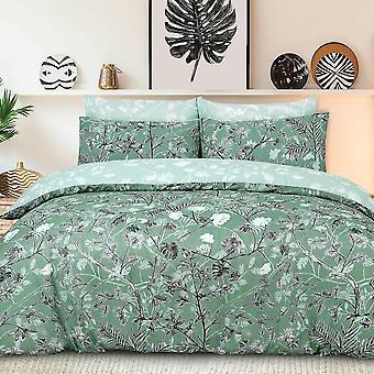 Affenbäume grün Bettwäsche Set