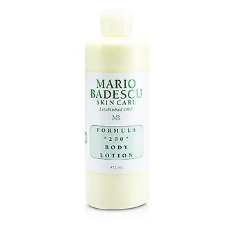 Mario Badescu Formula 200 Body Lotion - For All Skin Types - 472ml/16oz