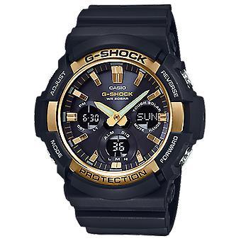Casio G-SHOCK NEUE BIG CASE SOLAR BLACK IP GOLD BEZEL