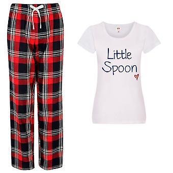 Ladies Little Spoon Tartan Trouser Pyjamas