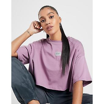 Nieuwe Supply & Demand Women's Badge Crop Short Sleeve T-shirt Pink