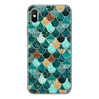 Mobile shell to iPhone11 mermaid designs green & gold
