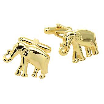الفيل نغمة الذهب الرجل اكمام على شكل أزرار اكمام