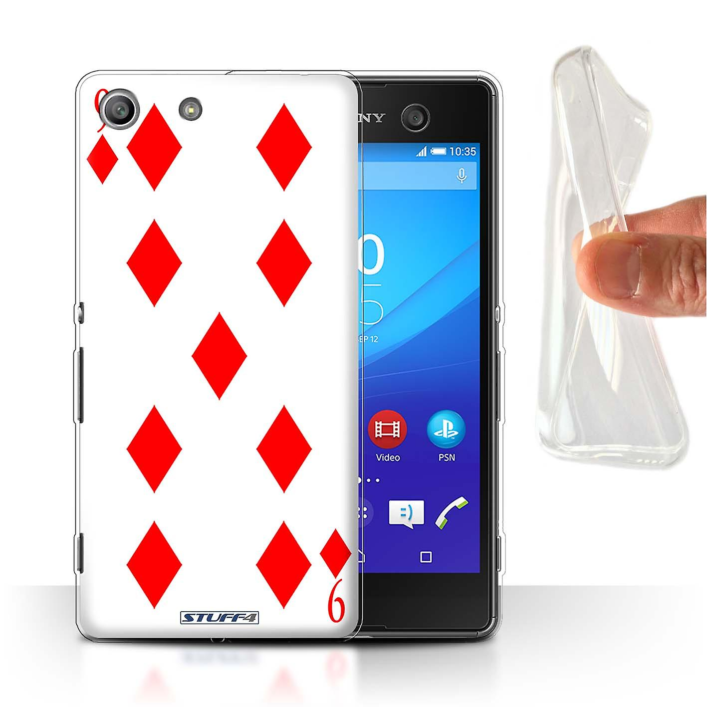 STUFF4 Gel TPU Case/Cover for Sony Xperia M5/9 of Diamonds/Playing Cards