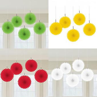 Amscan Mini Fan Paper Decorations (Pack Of 5)
