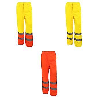 Yoko Workwear Mens Hi-Vis Polycotton Work Trouser (Regular) (Pack of 2)