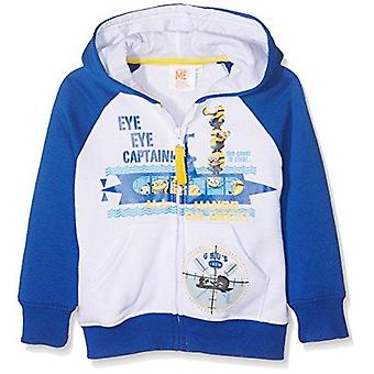 Despicable me minions boys hoodie sweatjacket white/blue
