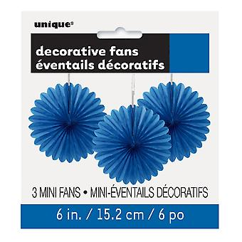 Einzigartige Party 6in dekorative Papier Fans (Pack von 3)