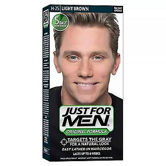 Just for men shampoo-in color kit, light brown, 1 ea