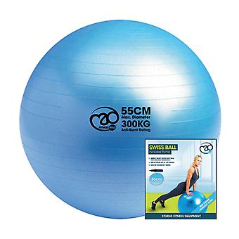 Fitness-Mad Anti-Burst 300kg Swiss Ball & Pump - Sininen - 3 kokoa