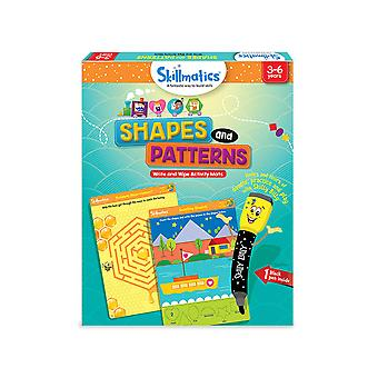 Skillmatics Shapes and Patterns Write & Wipe Activity Pack Preschool Learning
