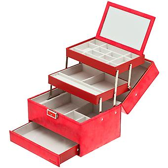 Davidt's jewelry case jewelry box red Castle mirror lockable