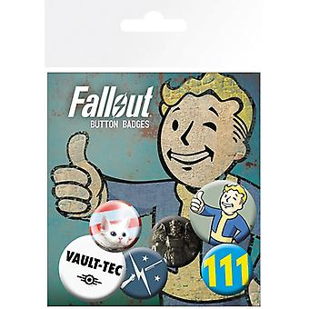 Fallout 4 Mix 1 Pin Button Badges Set