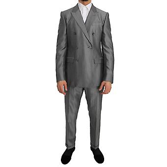 Dolce & Gabbana Black Stretch Crystal Bee Slim Fit Suit
