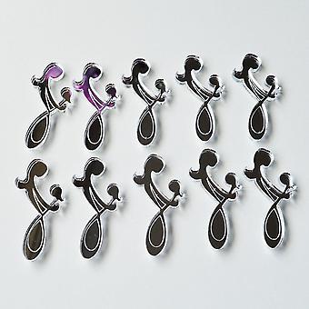 Mutter und Tochter verflochten Infinity Symbol Mini Handwerk Größe Acryl Spiegel (10Pk)