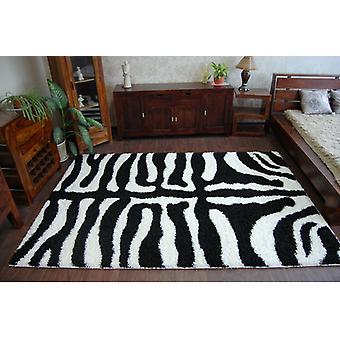 Rug SHAGGY ZENA 3964 white / black