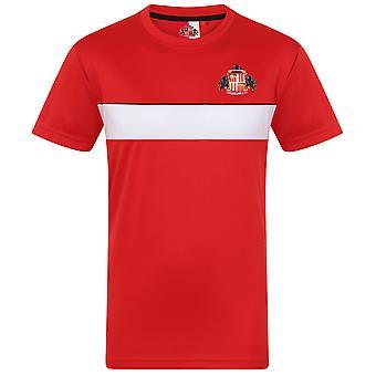 Sunderland AFC Official Football Gift Mens Poly Training Kit T-Shirt