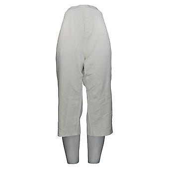 Denim & Co. Women's Petite Jeans XLP Comfy Knit Denim Slim Leg White A301771