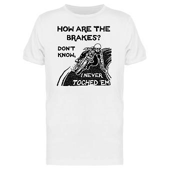 Nie berührt die Bremsen T-Shirt Herren-Bild von Shutterstock