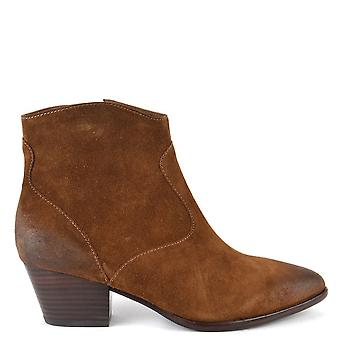 Ash Footwear Heidi Bis Russet Brushed Ankle Boots